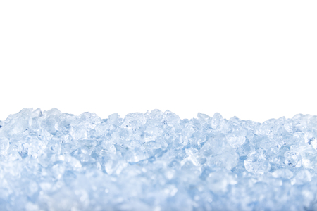 Photo pour crushed ice in front of the white background . - image libre de droit