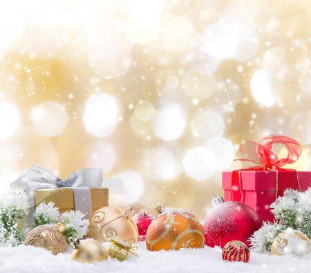 Foto de Christmas decoration on abstract background, close-up. - Imagen libre de derechos