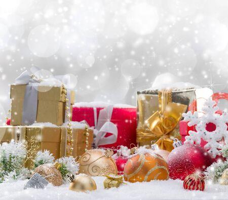 Photo pour Christmas decoration on abstract background, close-up. - image libre de droit