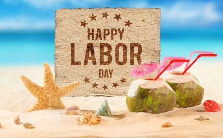 Photo for Happy Labor day banner, american patriotic background - Royalty Free Image