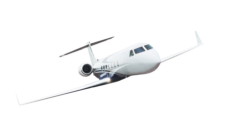 Photo for Commercial airplane isolated on white background. - Royalty Free Image