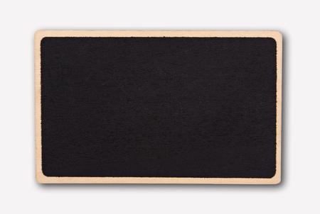 Photo pour Small blackboard isolate on white background. - image libre de droit
