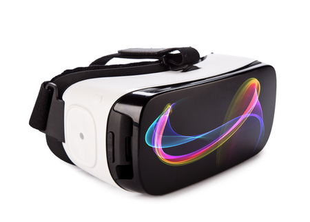 Photo for VR virtual reality glasses on white background - Royalty Free Image