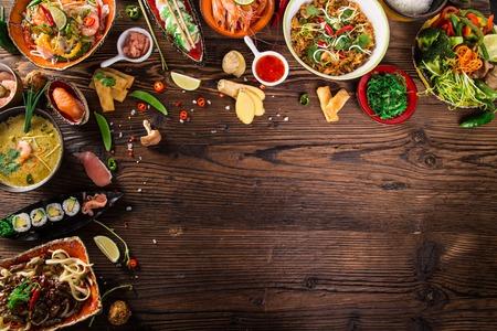 Foto de Various of asian meals - Imagen libre de derechos