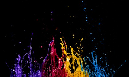 Photo for abstract color splash on black background - Royalty Free Image