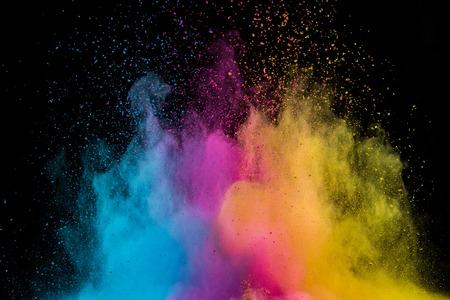 Foto de Colored powder explosion on black - Imagen libre de derechos