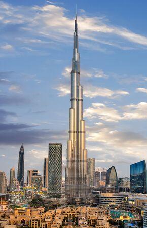 Photo pour Amazing panoramic view on Dubai futuristic skyline, United Arab Emirates - image libre de droit