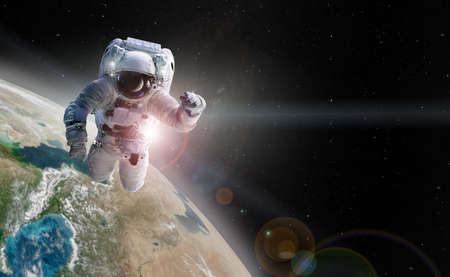 Foto de Astronaut spaceman outer space. - Imagen libre de derechos
