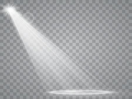 Illustration for Abstract Spotlight isolated on transparent background. Light Effects. - Royalty Free Image