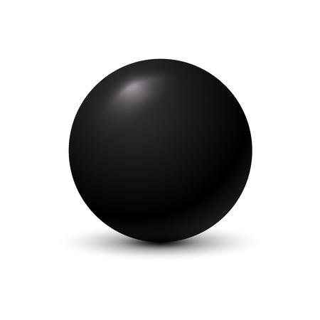 Black ball on white background.