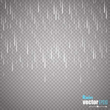 Illustration pour Vector rain isolated on transparent background. - image libre de droit