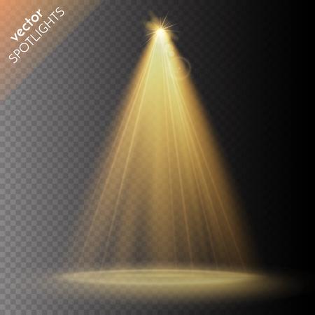 Illustration pour Vector Spotlights. Scene. Light Effects. Vector illustration - image libre de droit