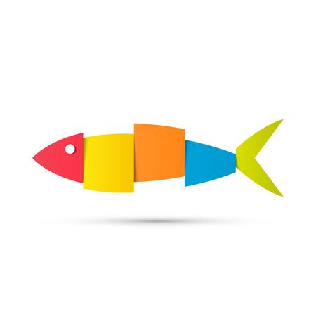Vektor für fish logo design vector background. Vector illustration - Lizenzfreies Bild