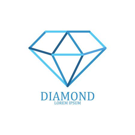 Illustration pour Diamond logo isolated. Brilliant gemstone sign. Vector illustration - image libre de droit