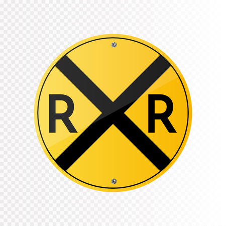 Illustration pour Railroad crossing traffic sign. - image libre de droit