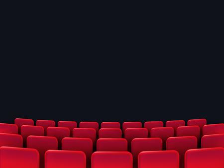 Illustration pour Cinema seats isolated on black background. Vector illustration. - image libre de droit