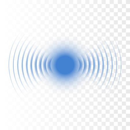 Illustration pour Sonar search sound wave. Vector radar icon - image libre de droit