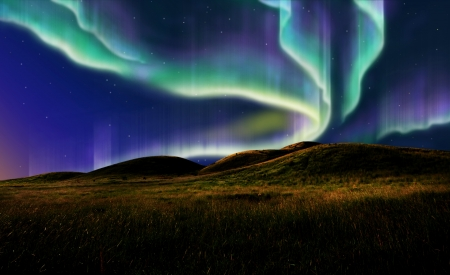 northern light on the silent