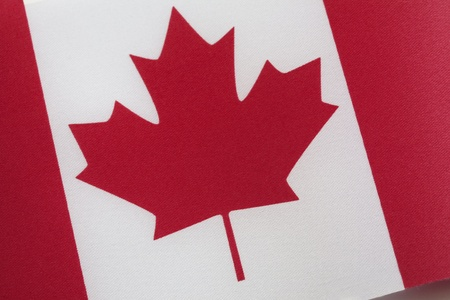 Close up of Canadian Flag of Tilted Angle