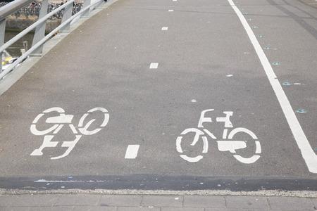 Bike Lane in Amsterdam, Holland, Netherlands