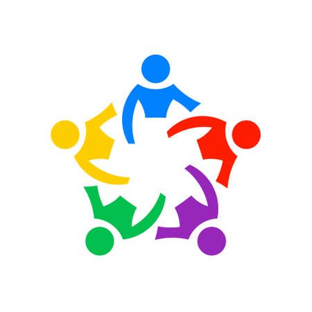 Illustration for Teamwork people community, vector graphic - Royalty Free Image