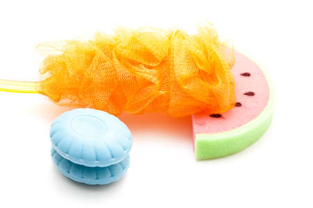 Netsponge with Bathsponge and Blue Soap