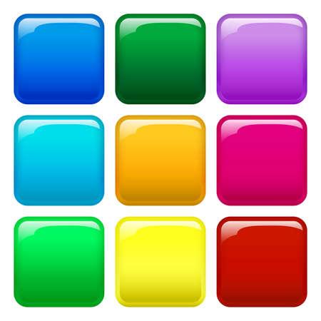 Illustration pour 9 colorful button icons - image libre de droit