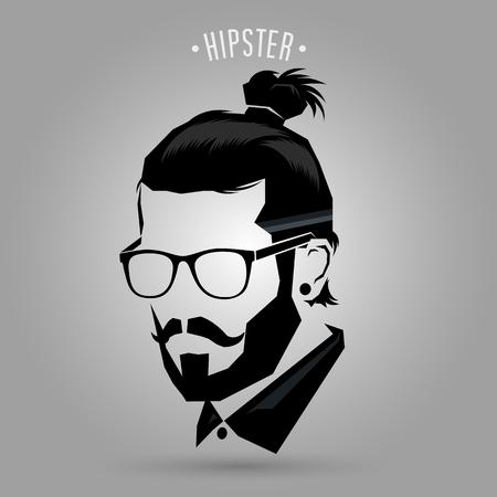 Vektor für Hipster men style sign on gray background - Lizenzfreies Bild