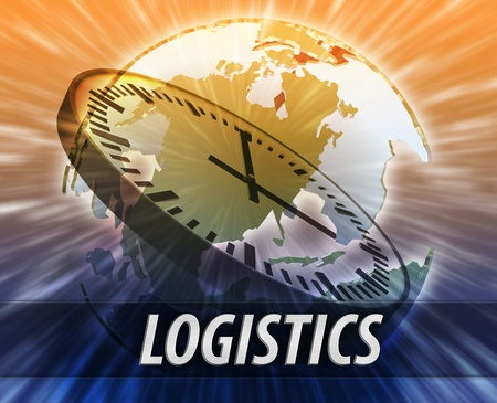 America international business time logistics management concept background