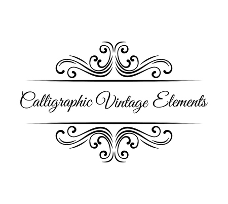 Illustration for Calligraphic design elements. Vintage Vector Ornaments Decorations Design Elements. - Royalty Free Image