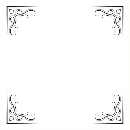 Illustration for Vintage decorative corners. Page dividrs, Scroll filigree flourish elements. Vector. Page decorations. Ornate frames - Royalty Free Image