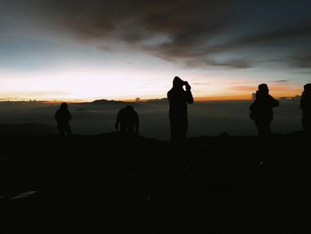 Sunrise at the top of Mount Semeru