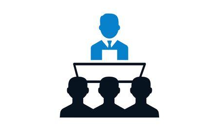 Illustration pour Public speech vector icon used for website. - image libre de droit