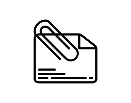Ilustración de Attach document icon vector image - Imagen libre de derechos