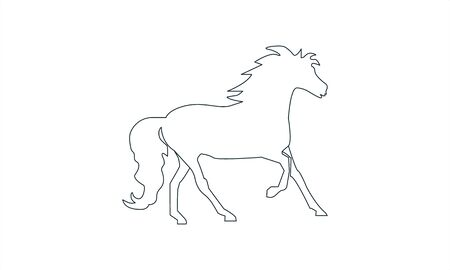horse icon illustration isolated vector sign symbol