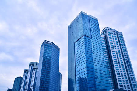 Photo pour buildings in Seoul's business center - image libre de droit