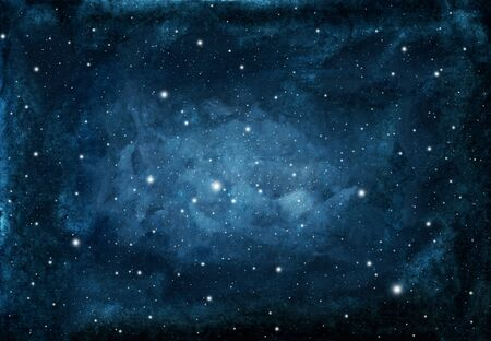 Photo pour Watercolor night sky background with stars. cosmic texture with glowing stars. - image libre de droit