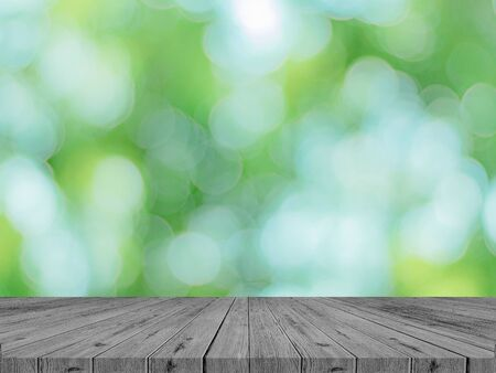 Photo for Empty wooden table with  park Spring product concept - Royalty Free Image