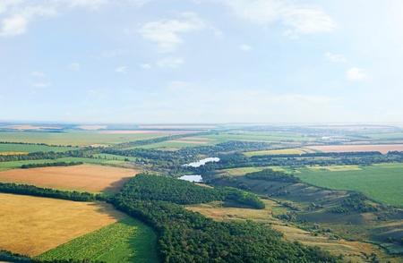 Photo pour Landscape with a bird's eye view, panorama - image libre de droit