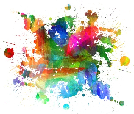 Abstract oil painting, Blot, Blurred spot, Blob