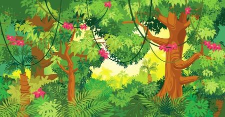 Ilustración de In the jungle illustration - Imagen libre de derechos