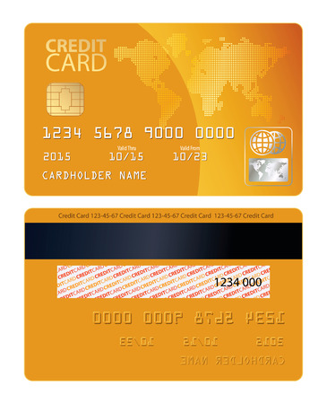 Illustration for Credit card. Vector illustration. Conceptual illustration. Isolated on white background - Royalty Free Image