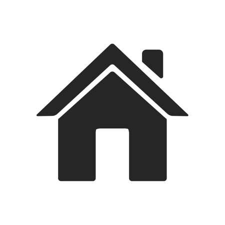 Illustration pour Home icon silhouette vector - image libre de droit