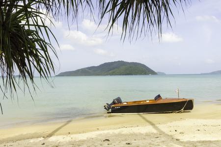 Wooden speedboat on Friendship beach, Phuket, Thailand