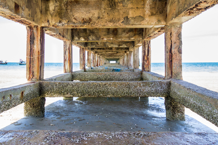 Vanishing point underneath a concrete pier