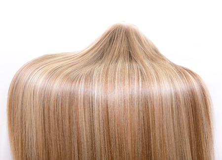 Photo for Hair and haircare. Beautiful blond female natural hair closeup - Royalty Free Image