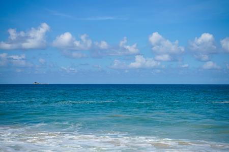 Clouds blue sky and sea background landscape