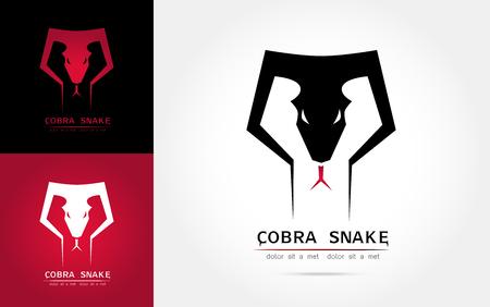 Stylized image of graceful cobra snake silhouette logo icon emblem