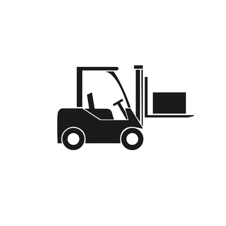 Ilustración de Forklift truck icon. Transportation of cargo and boxes in the warehouse. Vector  illustration - Imagen libre de derechos
