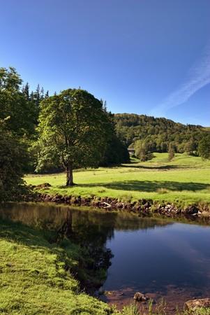 Photo pour River Brathay at Elterwater in the English Lake District - image libre de droit
